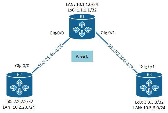 configure OSPF - Network diagram