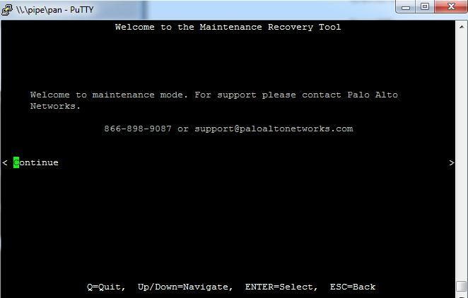 Paloalto Firewall Reset - continue 3