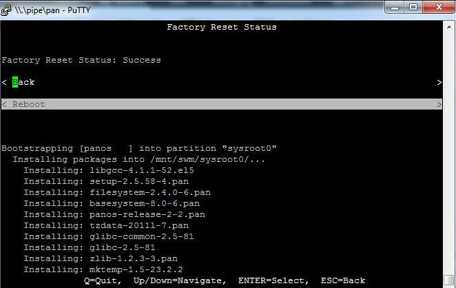 Paloalto Firewall Reset - reboot 7