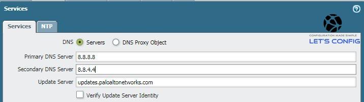 Set DNS config