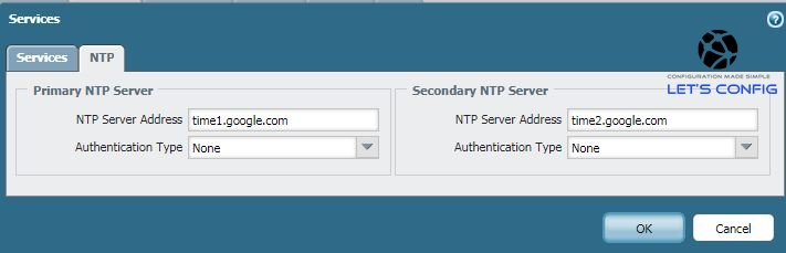 Set NTP Config