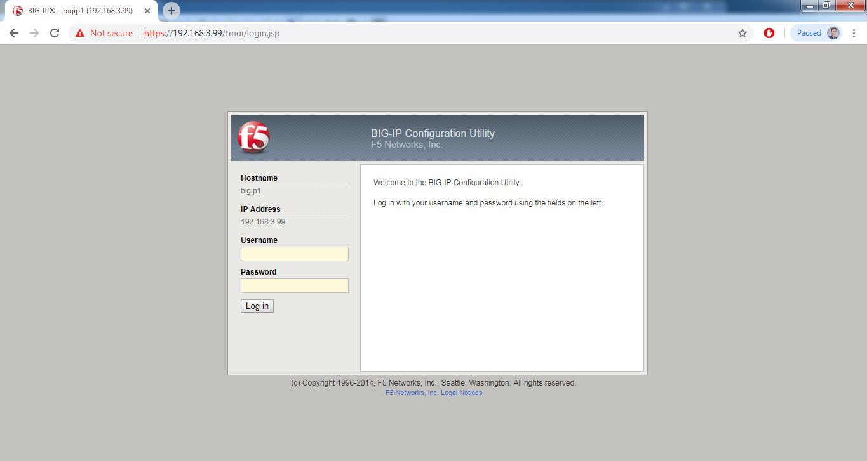 F5 Web-login