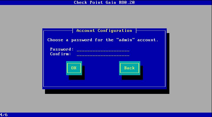 Password for admin