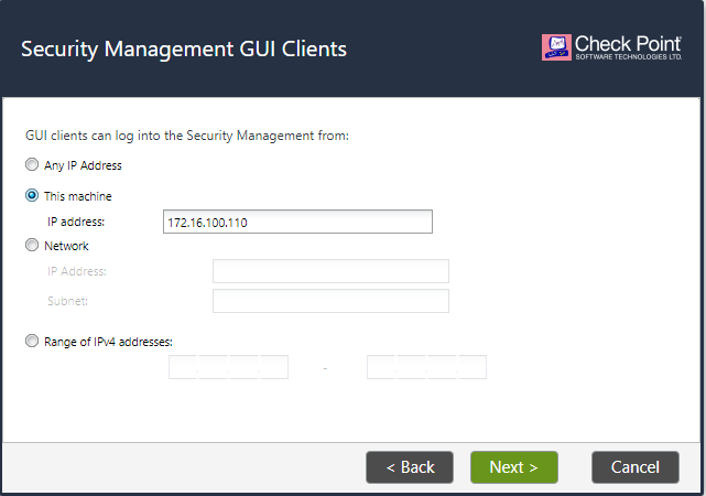 Security Management GUI Clients