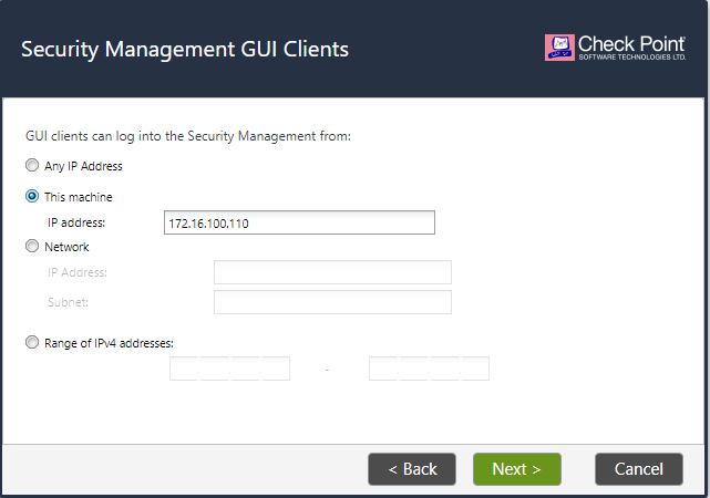 Security Management GUI Clients