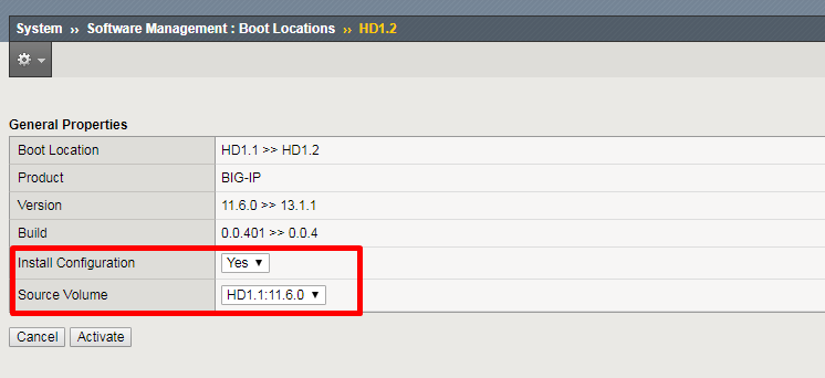 Boot Location Selection and configuration