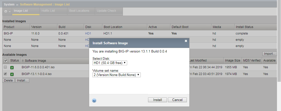 Software Install in HD1