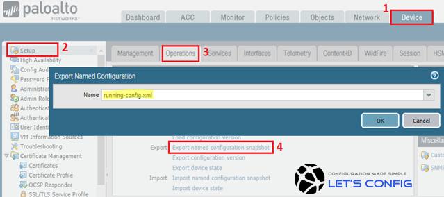 Palo Alto Networks Firewall Backup Process