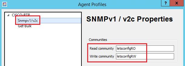 SNMP v2c Confguration